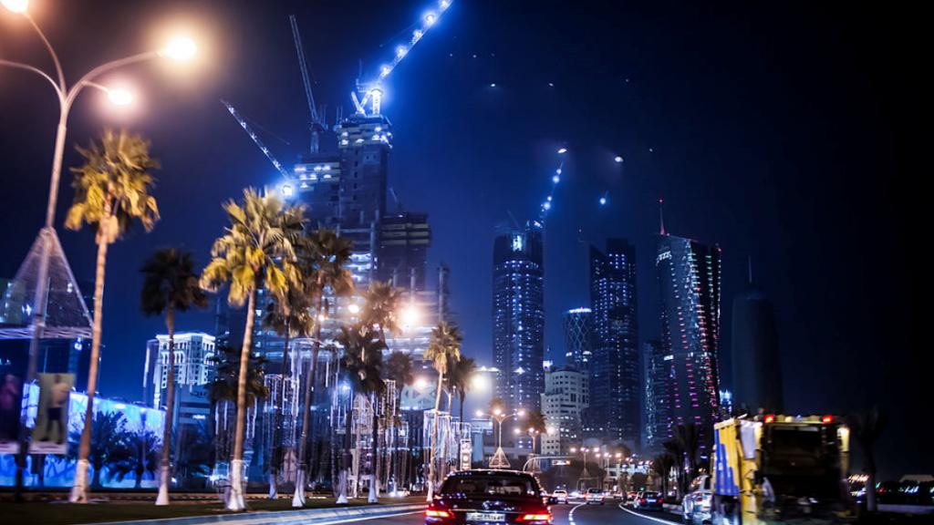 Met de enorme olie-inkomsten heeft Saoedi-Arabië moderne steden gebouwd.