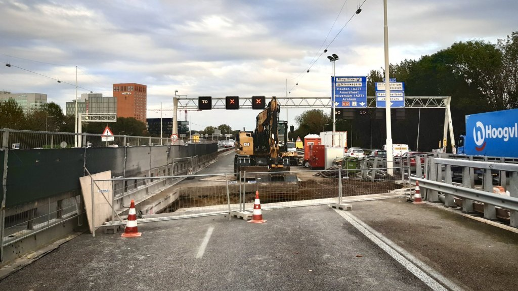 Werkzaamheden aan de Galecopperbrug.