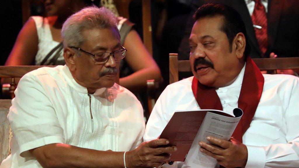 De broers Mahinda en Gotabaya Rajapaksa