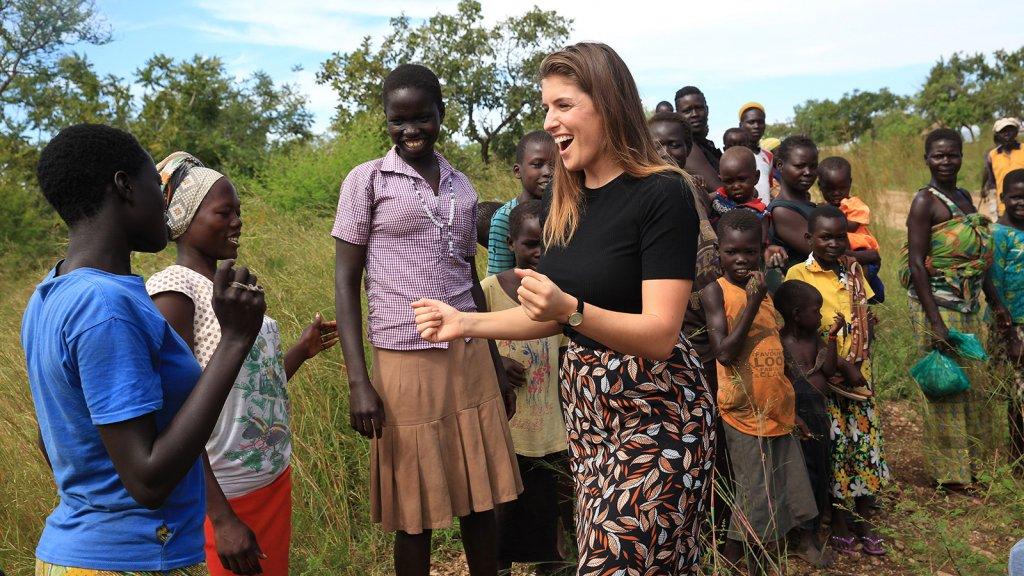 Marieke in Oeganda