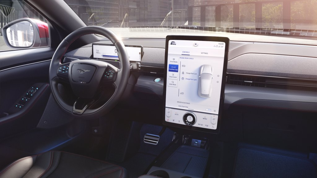 Is het een Tesla interieur? Is het een kopie?