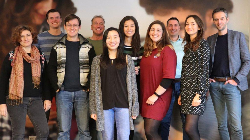 Het hele Lootjestrekken.nl-team (helemaal rechts: Arjan Kuiper).