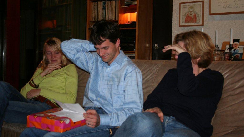 Ook toen de kinderen in het gezin ouder werden, bleven de gedichten traditie.