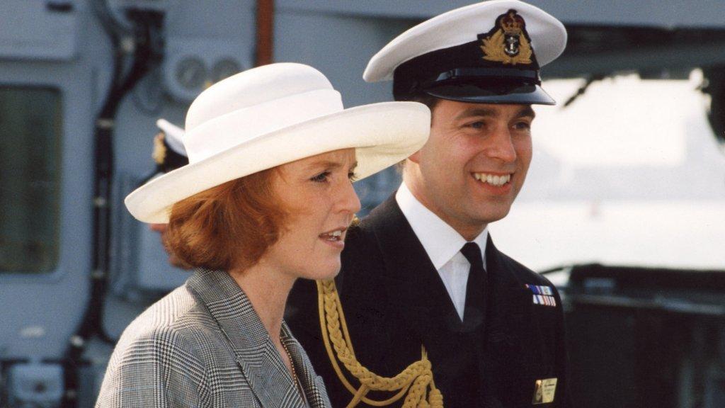 Prins Andrew met zijn vrouw Sarah Ferguson