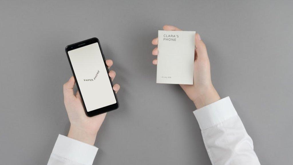 Met de app kan je een 'papieren smarpthone' printen