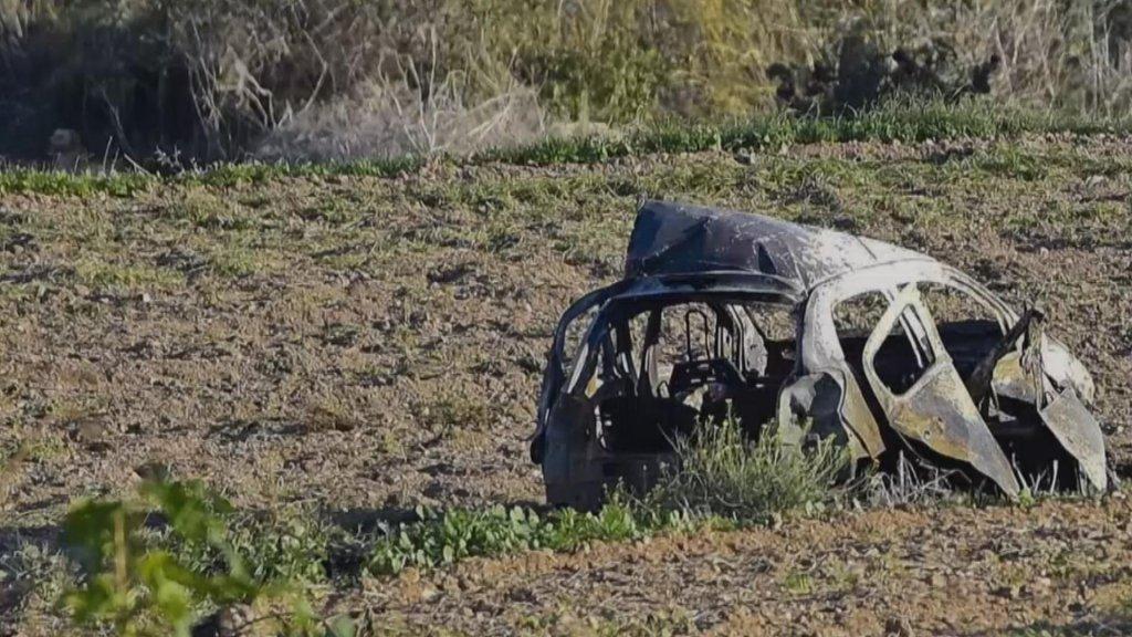 De auto van Daphne Caruana Galizia