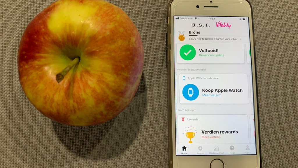 De Vitality-app motiveert je om te sporten
