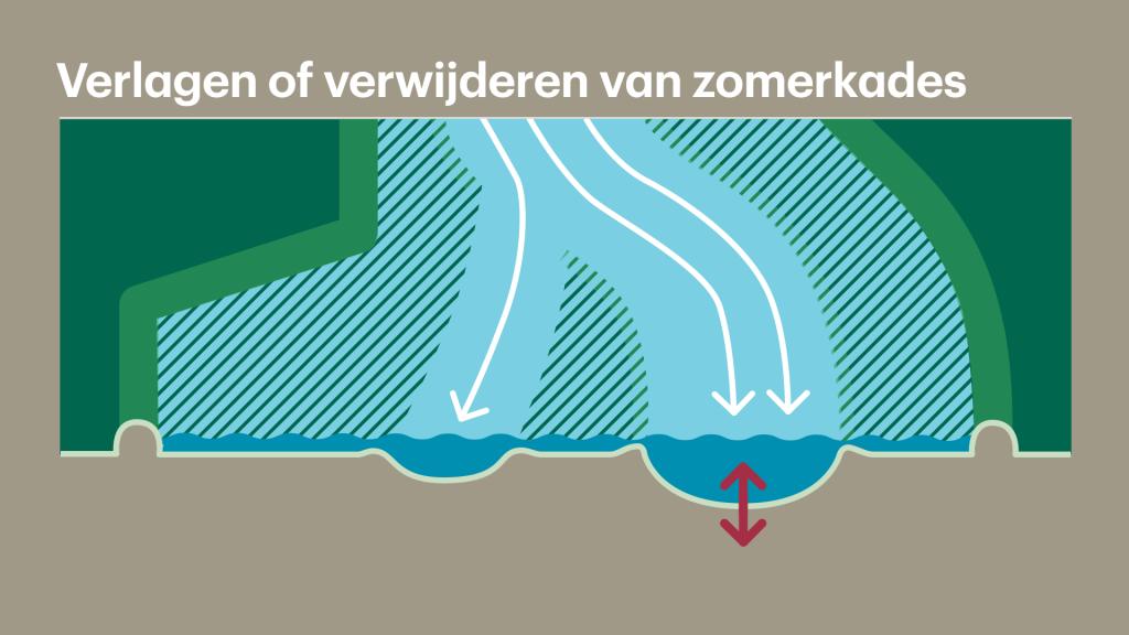 Het verlagen van de zomerkades vermindert bodemerosie.