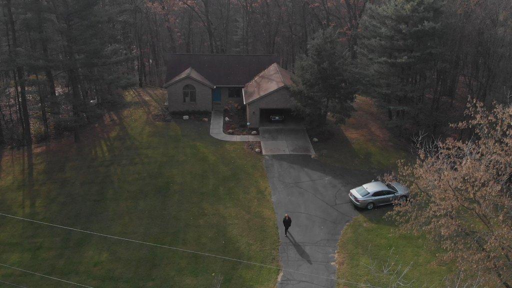 Het huis van Sandy Wynn-Stelt, op de vervuilde grond.