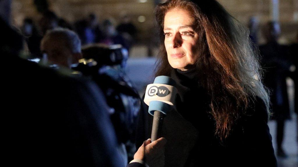 De zus van de vermoorde journaliste.