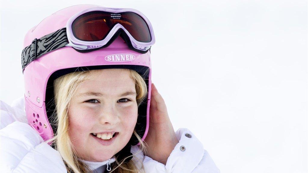 De tienjarige Amalia tijdens de fotosessie in Lech in Oostenrijk.