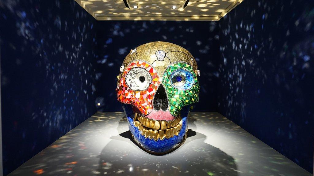 Skull meditation room in het Sprengel Museum