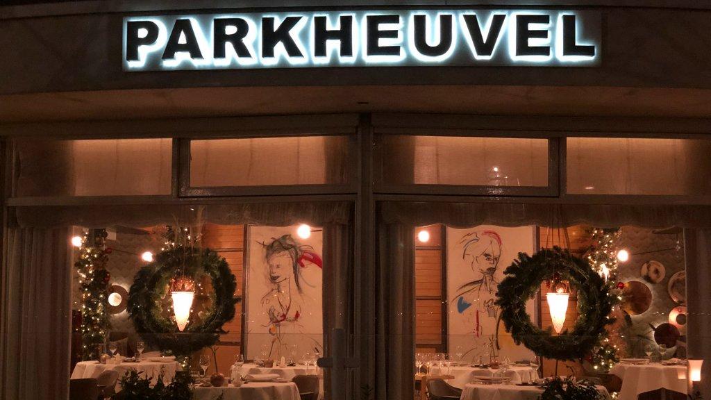 Kerstsfeer in het restaurant.