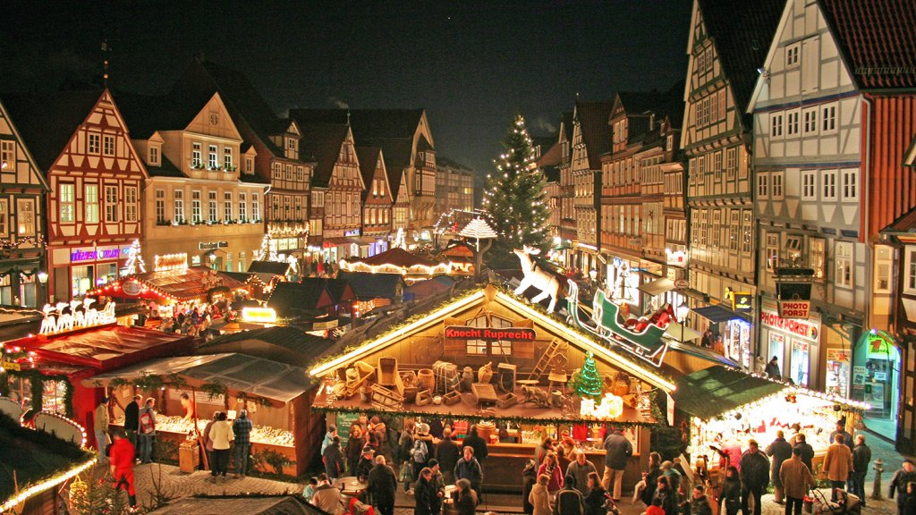 Kerstmarkt in Celle.