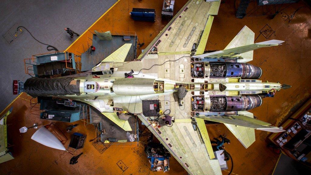 Productie van de Russische Sukhoi Su-30