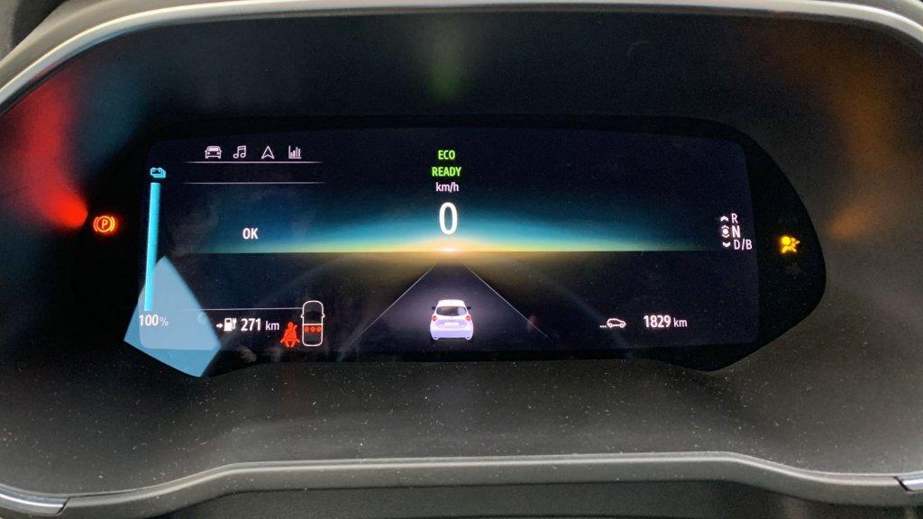 Het dashboard is één groot scherm
