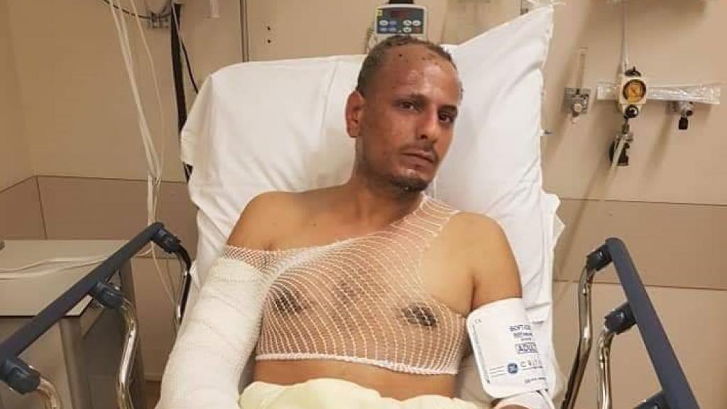 Mahmoud in het ziekenhuis.