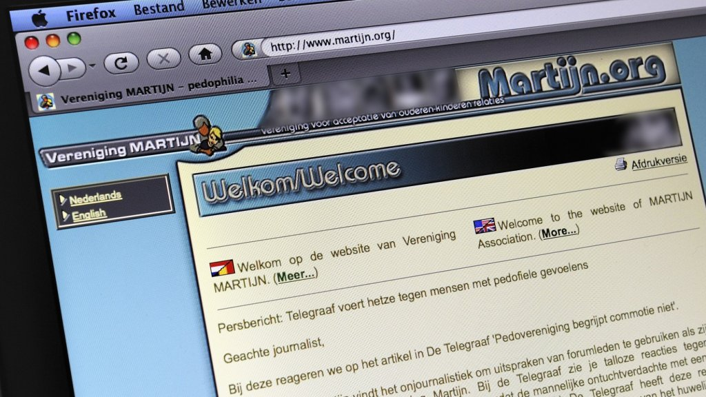 De oude website van Vereniging Martijn.