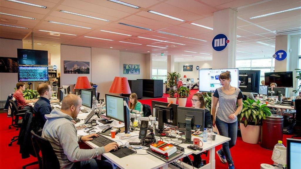 De redactie van Nu.nl in 2014.