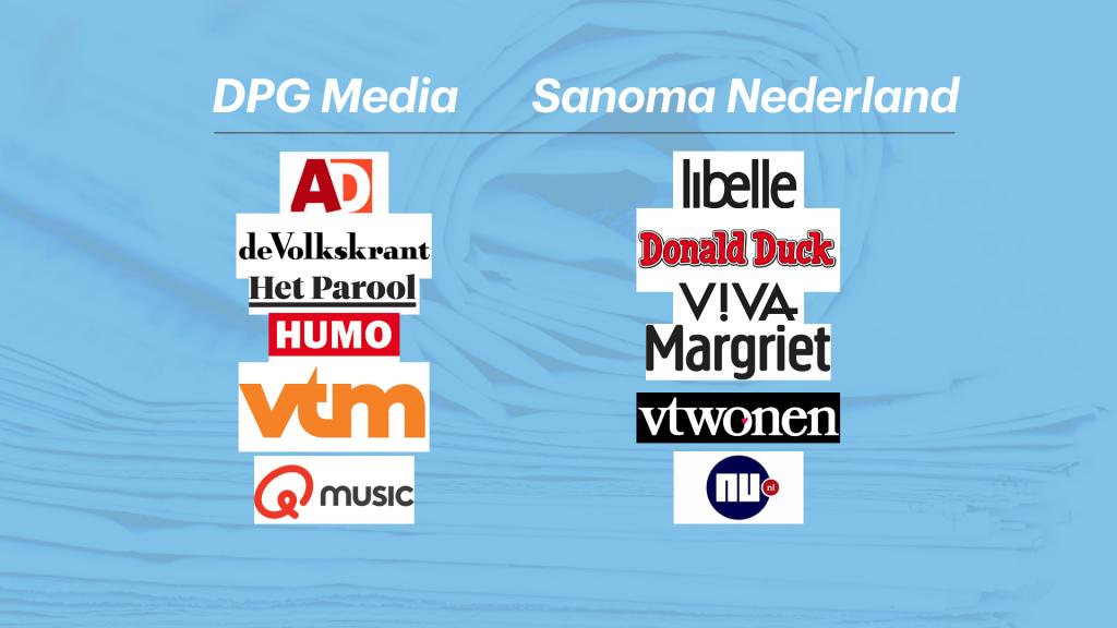 De belangrijkste merken van de twee bedrijven.