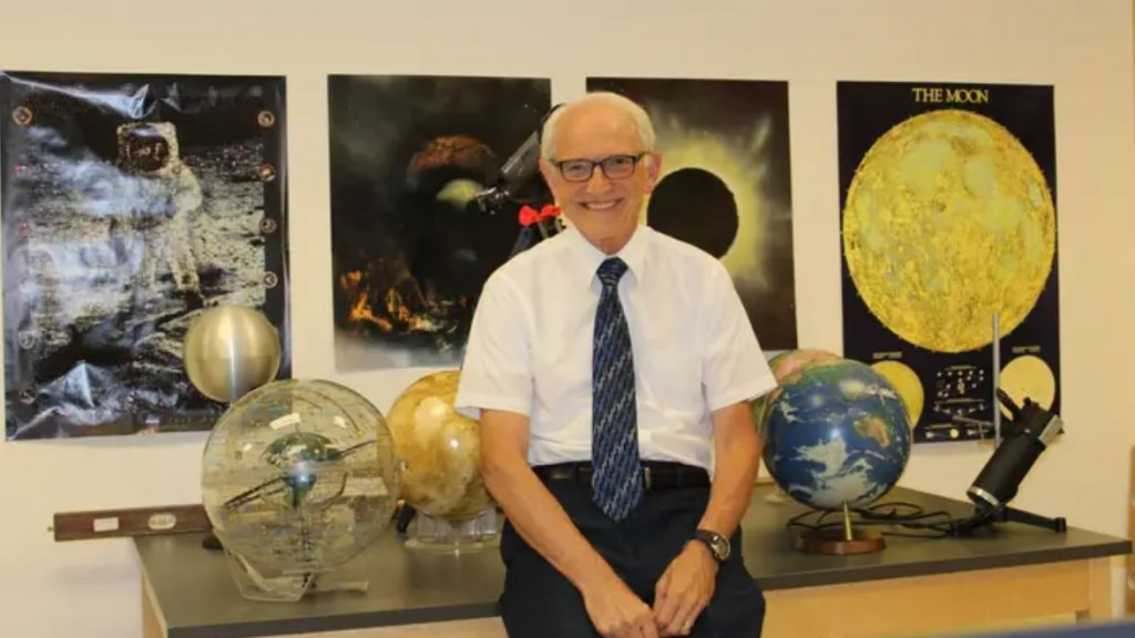 Natuurkundeleraar David Wright.