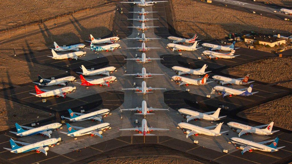 Boeings staan al maanden aan de grond.
