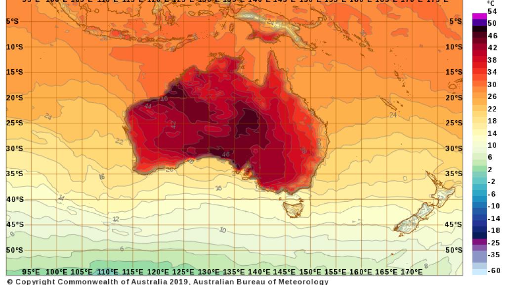 Temperatuurvoorspellingen voor woensdag.