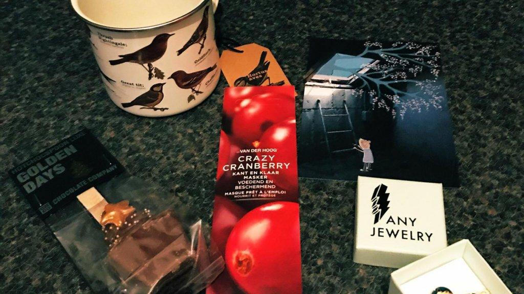 Het kerstpakket dat Krake zelf ontving vorig jaar.