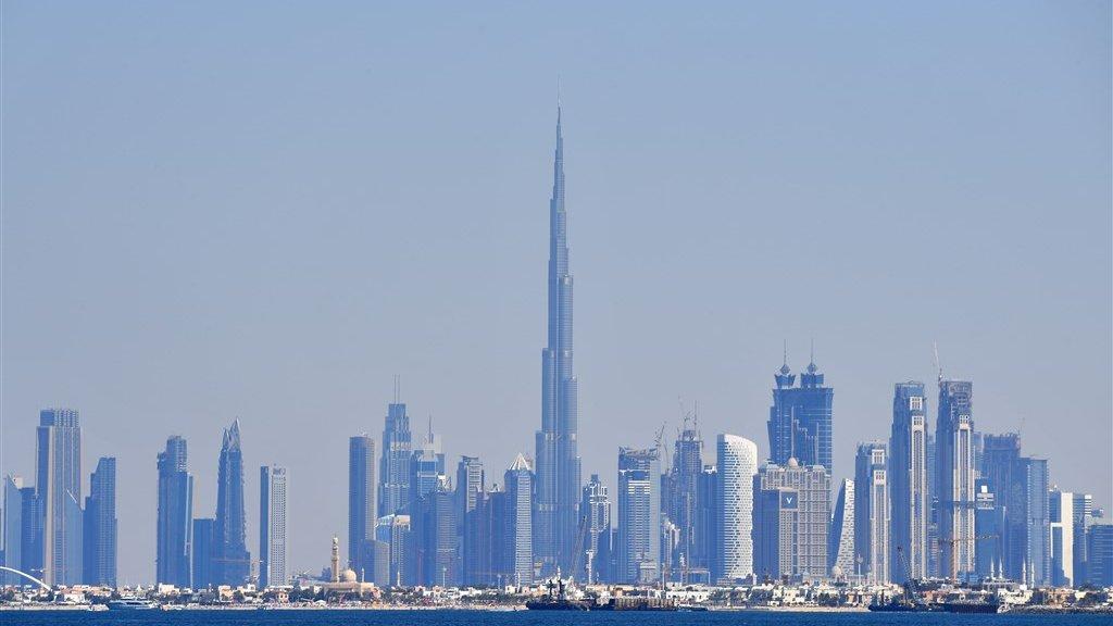 De skyline van Dubai, de stad waar topcrimineel Taghi werd gearresteerd.