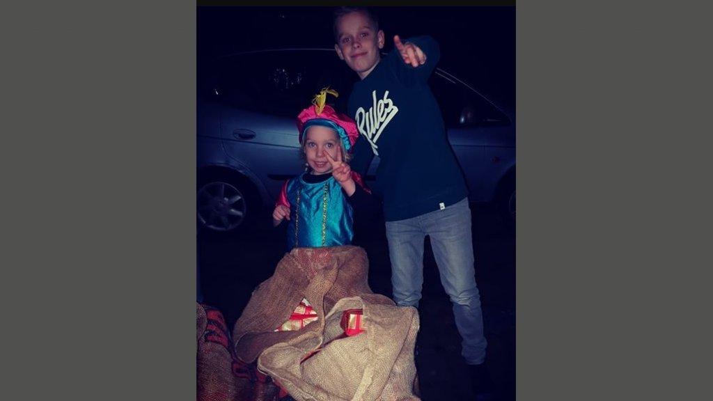 De kinderen van Annabel: Luca en Noa.