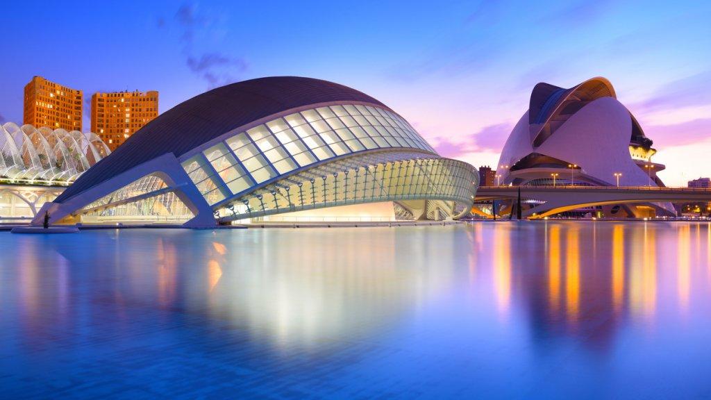 Stad van Kunst en Wetenschappen in Valencia.