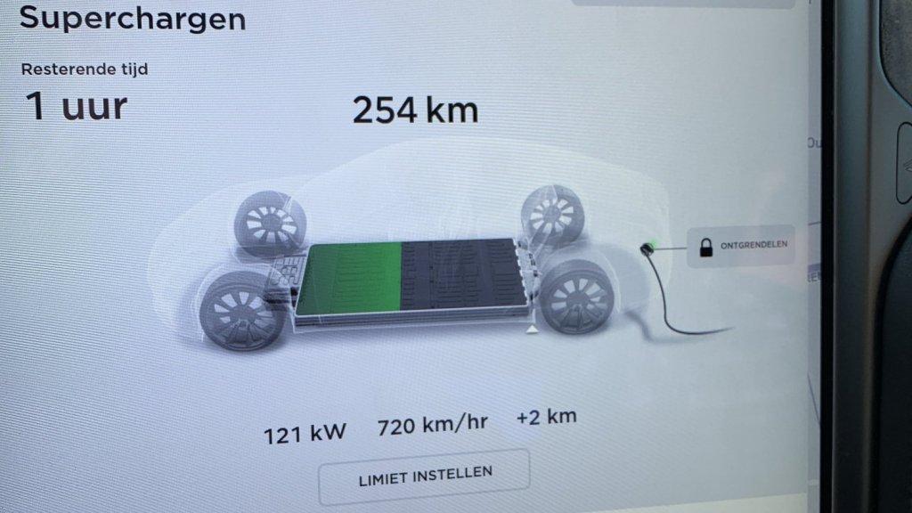Opladen met 121 kW: 720 km bereik in een uur