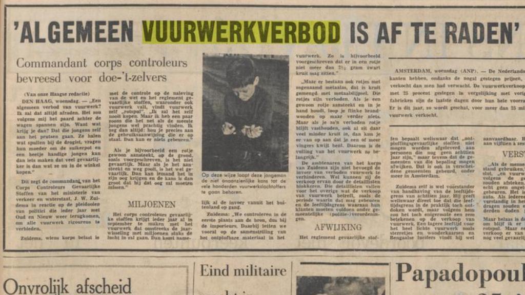 Het Parool op 31 december 1975.