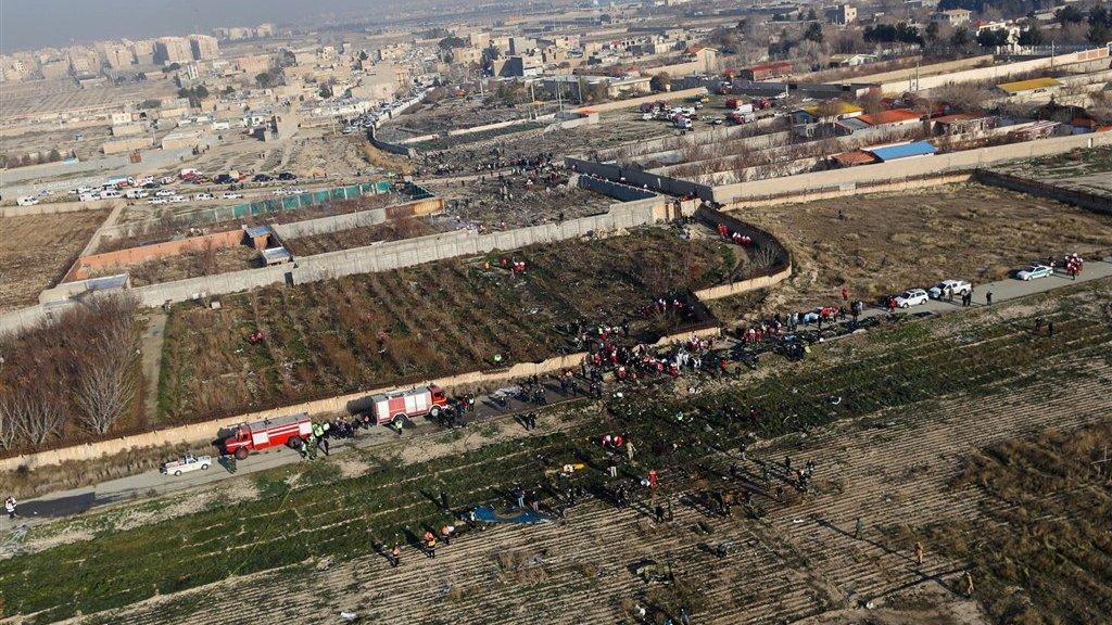 Een overzichtsfoto van de rampplek.