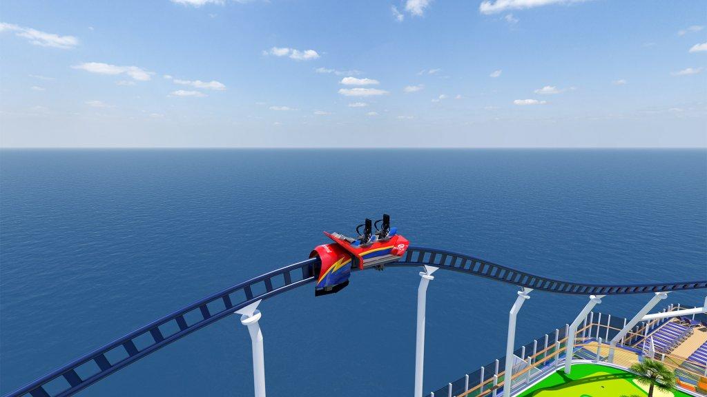 Op bijna 60 meter boven het zeewater met 64 kilometer per uur