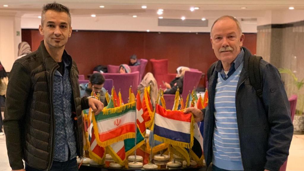 Iliyas Hoshyar en Vincent van Vilsteren in Iran.