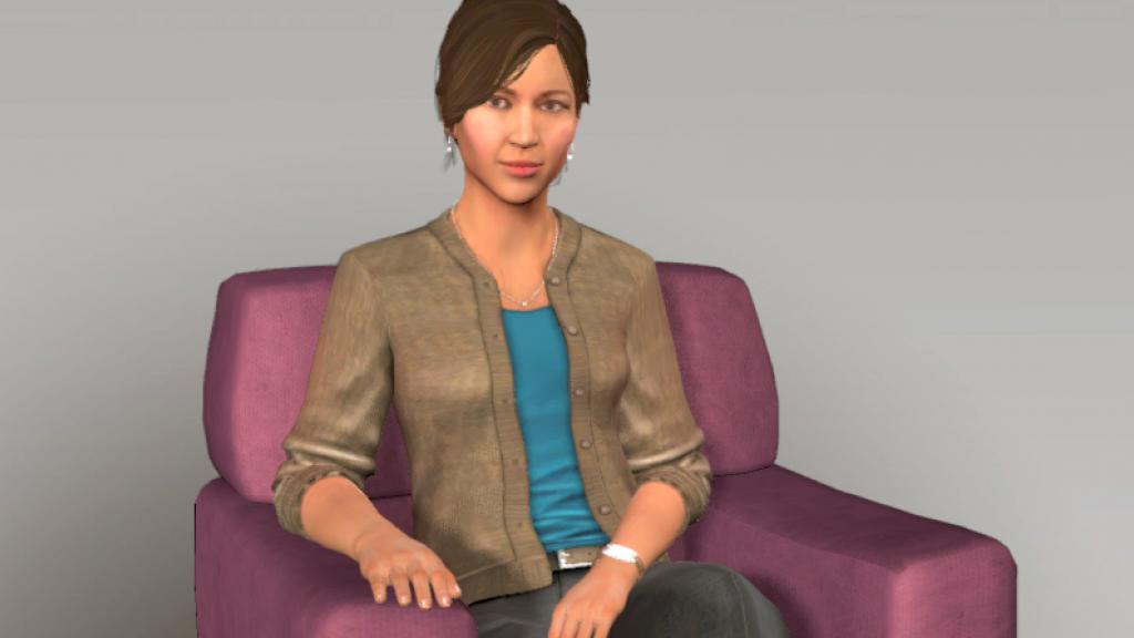 De avatar die Lisanne gebruikte in haar onderzoek