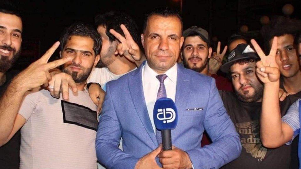 Verslaggever Ahmed Abdelsamad werd door zijn hoofd geschoten.