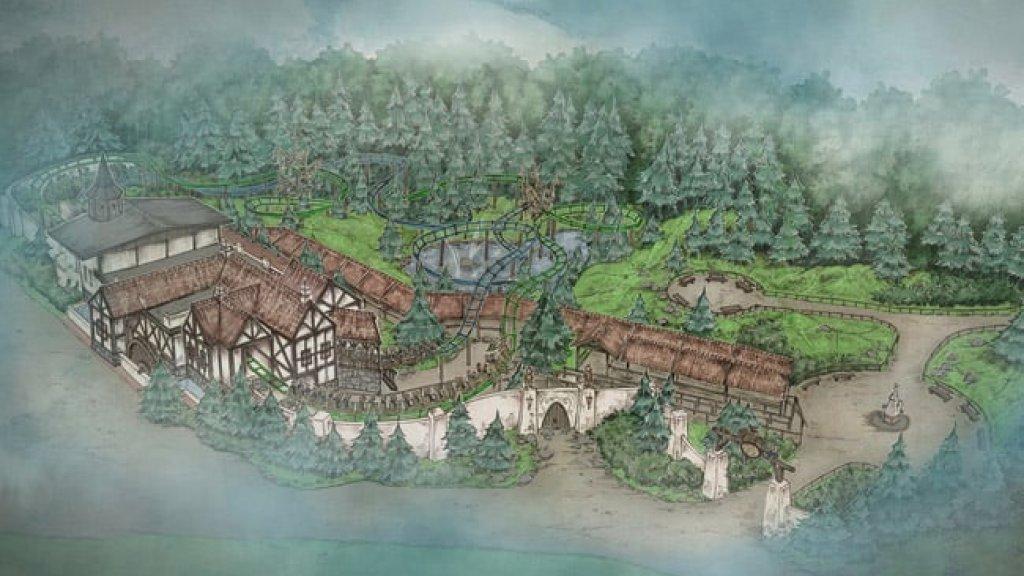 Een schets van de nieuwe achtbaan