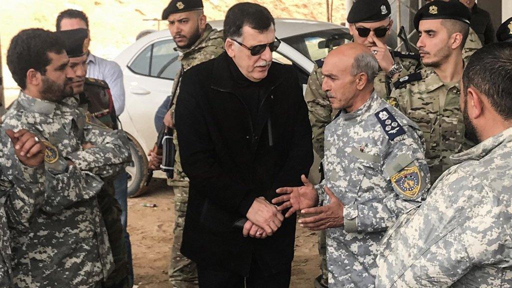 Fayez Al-Sarraj, officieel de premier van Libië.