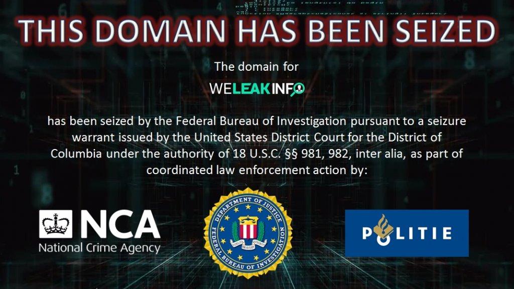 De website toont voortaan deze melding.