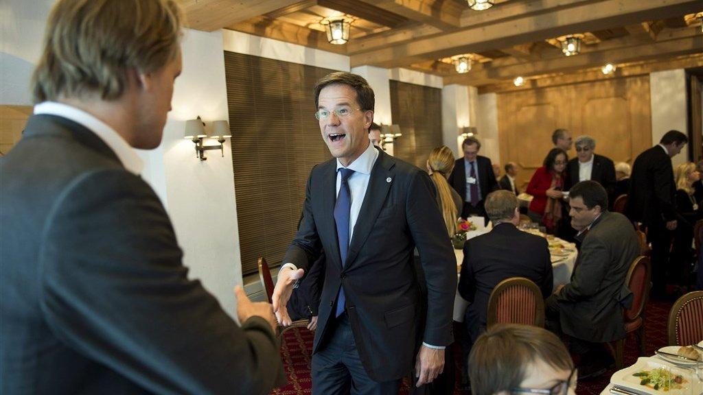 Premier Rutte in Davos.