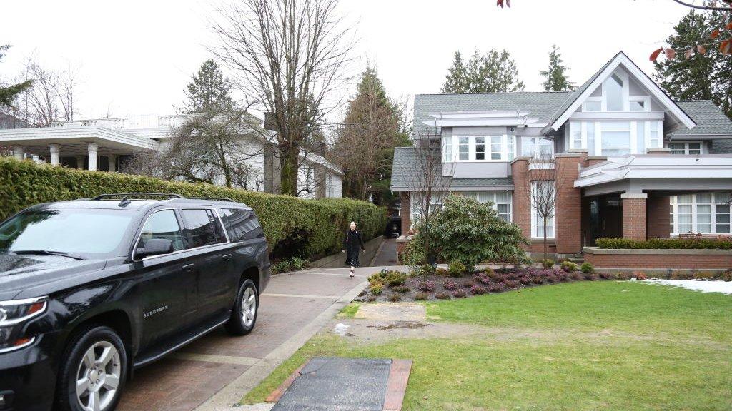 De Huawei-cfo woont tijdens haar borgtocht in deze ruime villa in Vancouver.