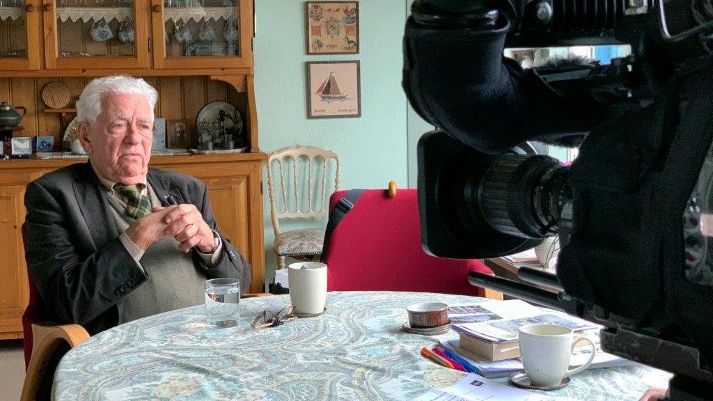 Ernst Verduin tijdens het interview.