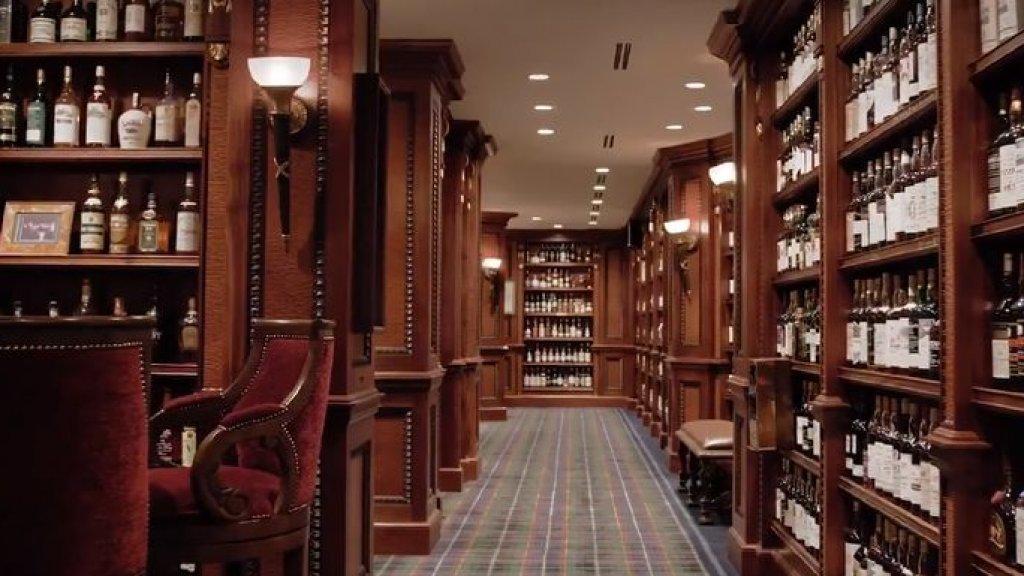 De Whisky-kamer in het huis van Gooding