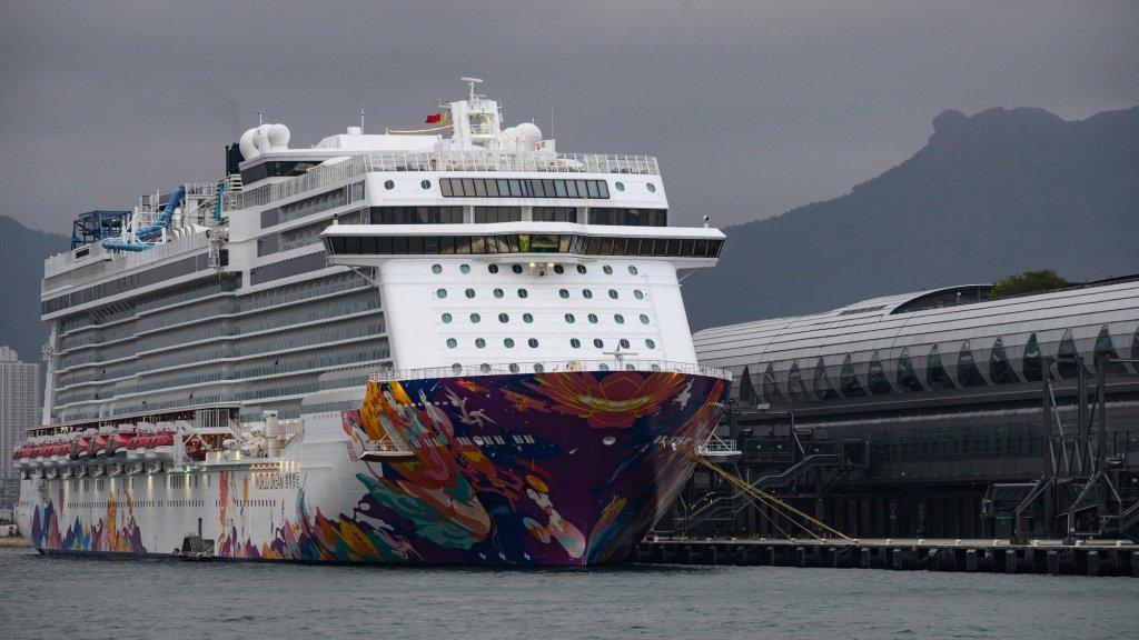 Cruiseschip de World Dream in Hongkong