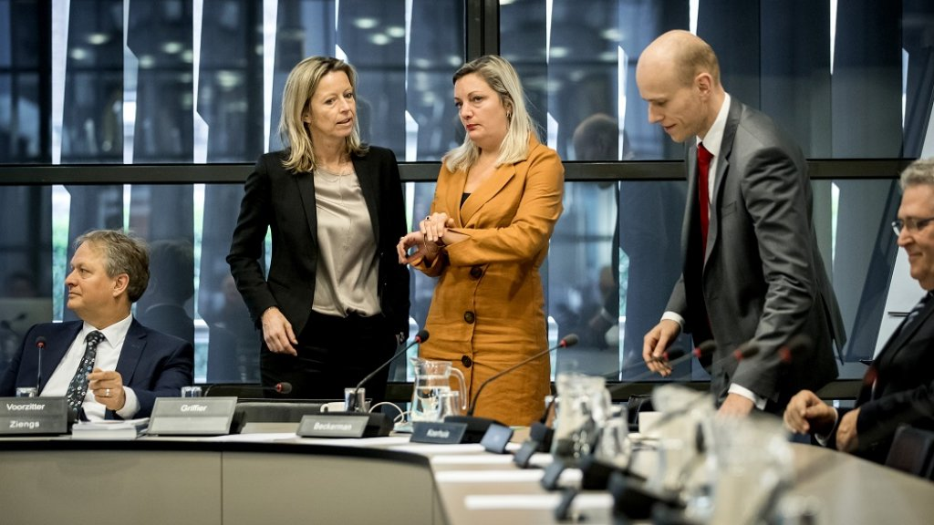 Kajsa Ollongren,  Sandra Beckerman en Daniel Koershuis. (vlnr)