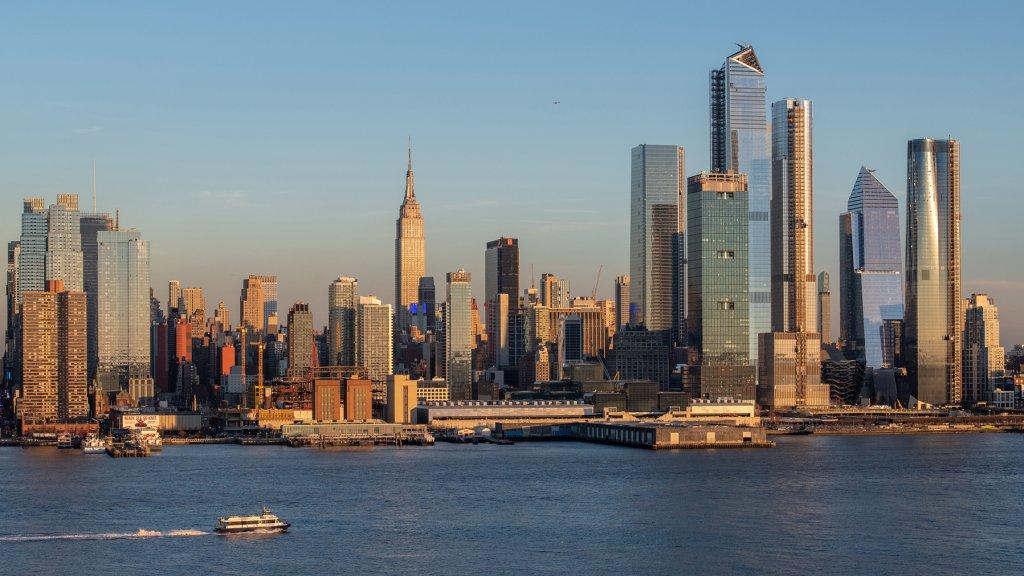 Skyline van het altijd veranderende New York.