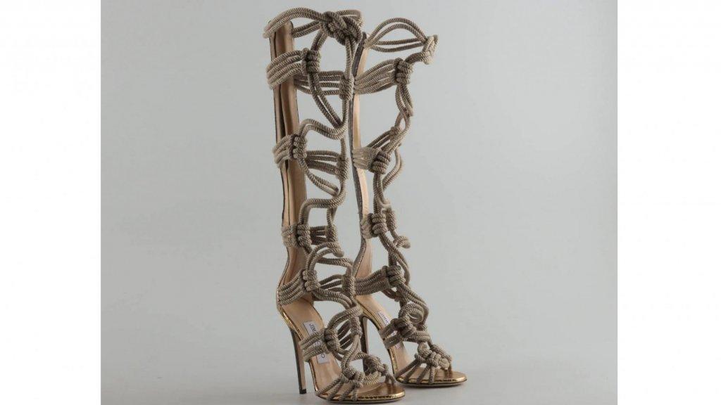 Jimmy Choo Elaphe and Rope gladiator sandals maat 35