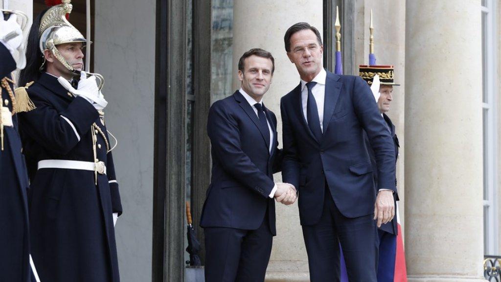President Macron en premier Rutte.